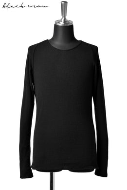 blackcrow knitsewn super140 wool jersey (BLACK)