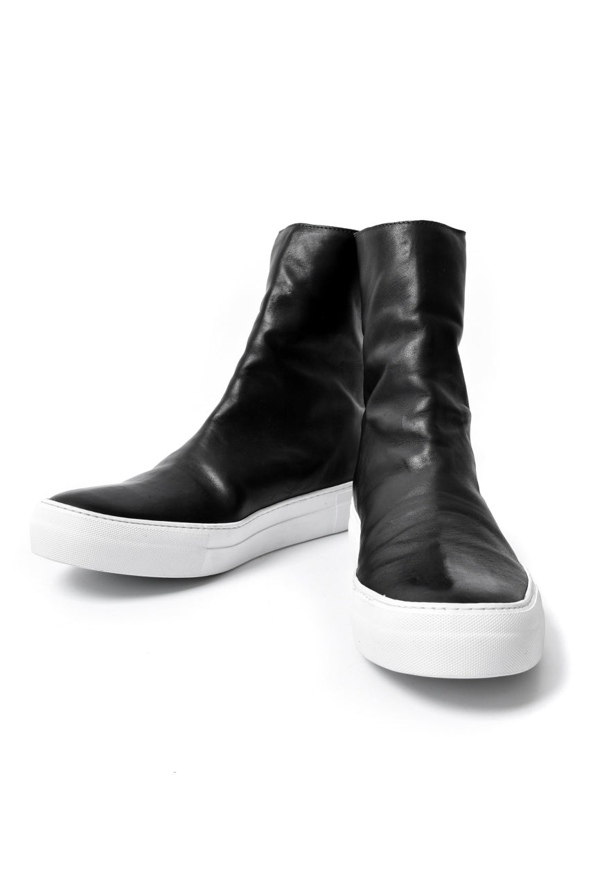 LINEA_F by incarnation HORSE LEATHER BACK ZIP SNEAKER