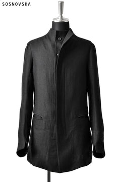 Load image into Gallery viewer, SOSNOVSKA DOUBLE LAYERS JACKET (BLACK)