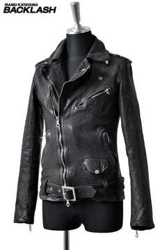 "Load image into Gallery viewer, ISAMU KATAYAMA BACKLASH exclusive ""FLEETWOOD"" RIDERS JACKET (BLACK)"