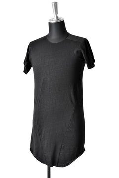 画像をギャラリービューアに読み込む, LEON EMANUEL BLANCK DISTORTION CURVED T / LUCENT LINEN JERSEY (BLACK)