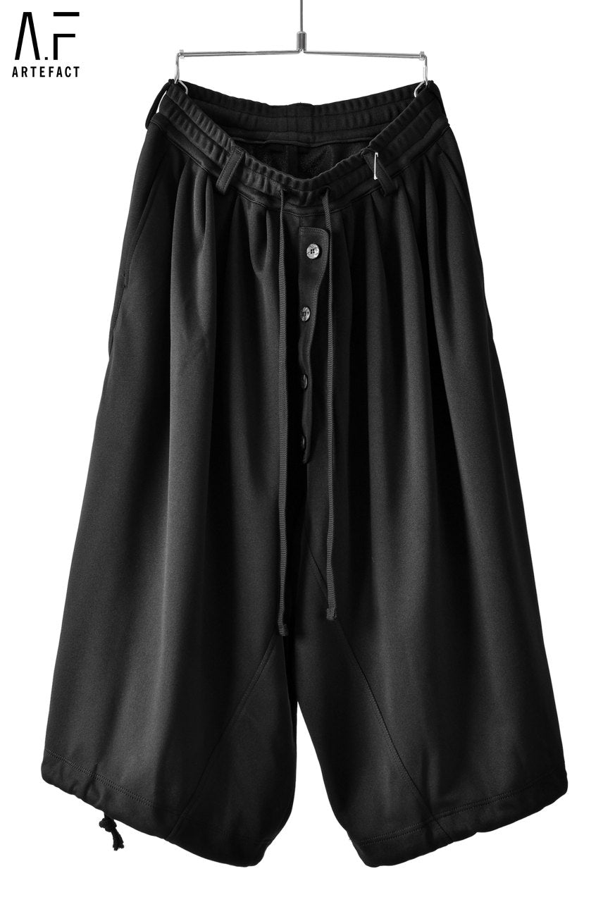 A.F ARTEFACT exclusive DRAWSTRING-HEM WIDE TROUSERS (SMOOTH JERSEY)