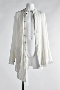 画像をギャラリービューアに読み込む, SOSNOVSKA exclusive WHITE ASYMMETRIC BLOUSE (WHITE)