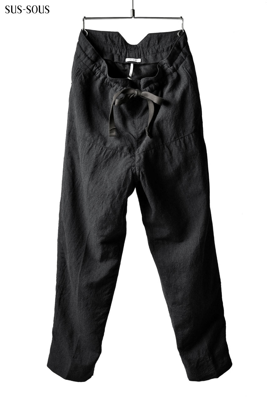 sus-sous tapared trousers W.D / OX made with oyagi (NAVY GREY)