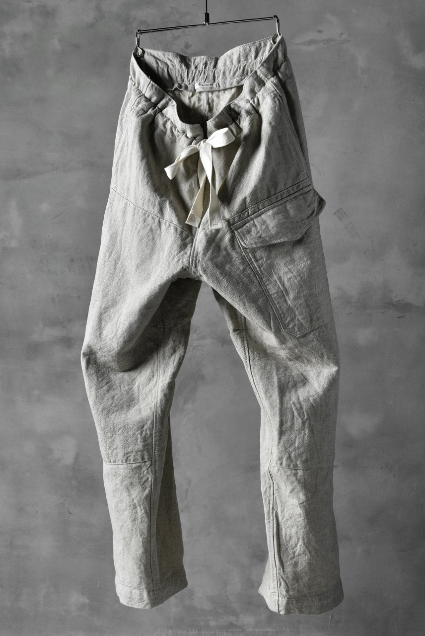 sus-sous natural wide trousers MK-1 / L56/C44 made with oyagi (NATURAL)