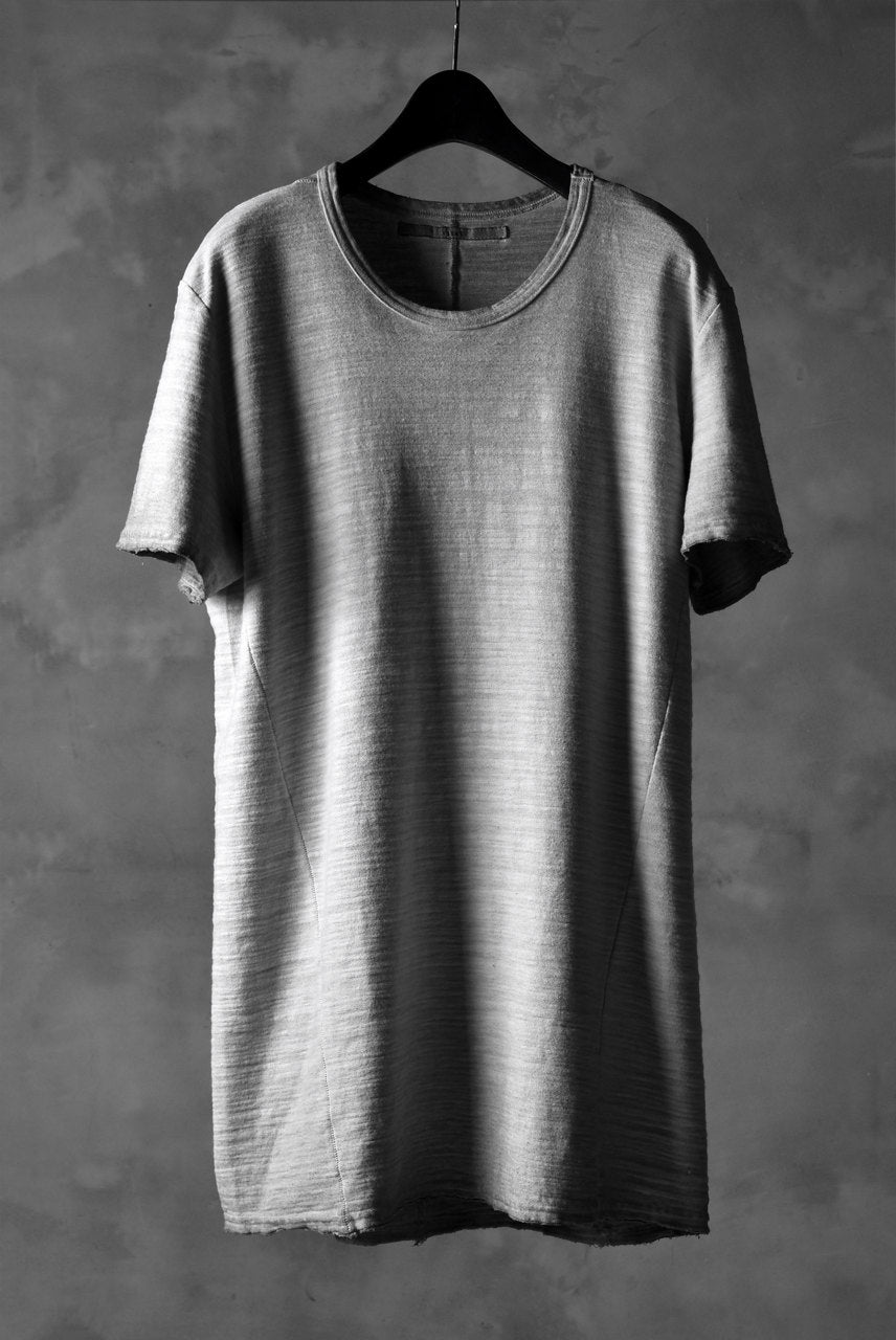 _vital slab reverse jersey t-shirt / cold ink dyed