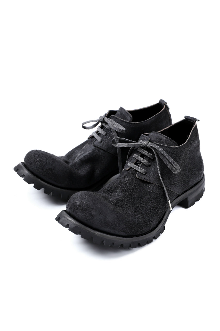Portaille exclusive VB Derby Shoes (Reversed Horse Iron Dyed / BLACK)