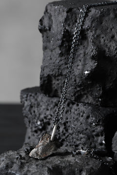 Load image into Gallery viewer, GASPARD HEX Meteorite Pendant with White Diamond / 60cm chain