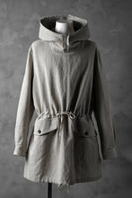 Load image into Gallery viewer, sus-sous anorak middle coat / natural linen & cotton (NATURAL)