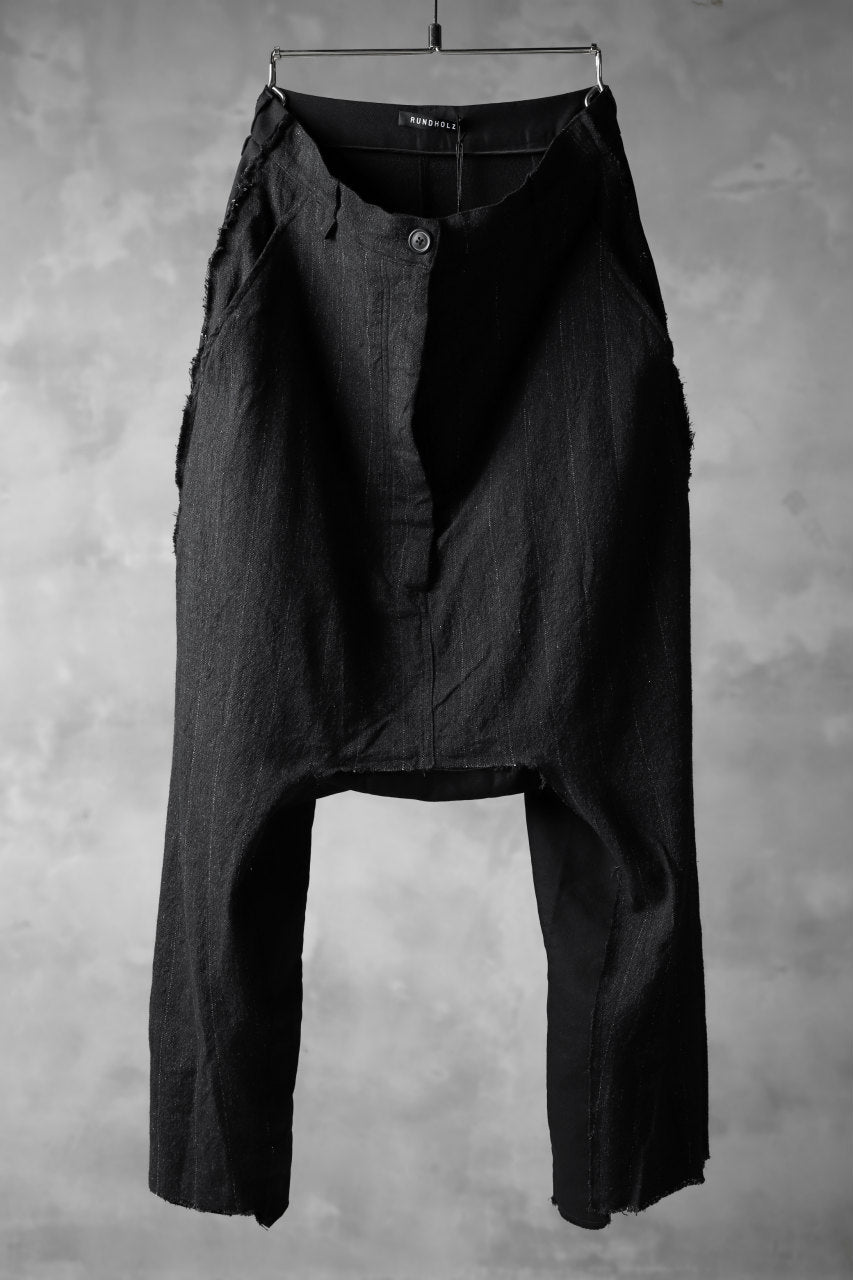 画像をギャラリービューアに読み込む, RUNDHOLZ STRIPE SARROUEL TROUSERS / switching fablic (ANTHRACITE)