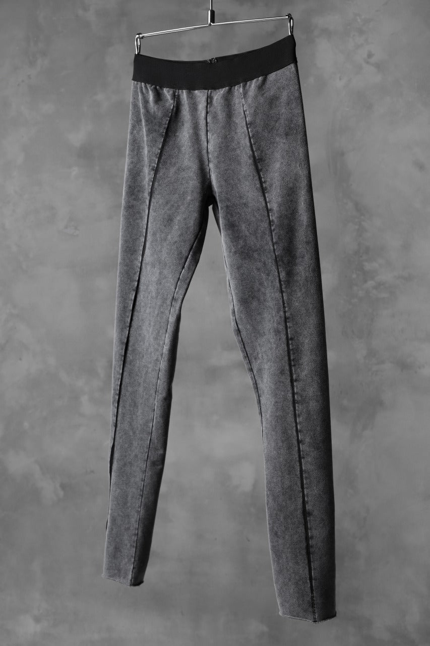 thomkrom OVERLOCKED LEGGINGS / OILED SPRAY DYE (GREY)