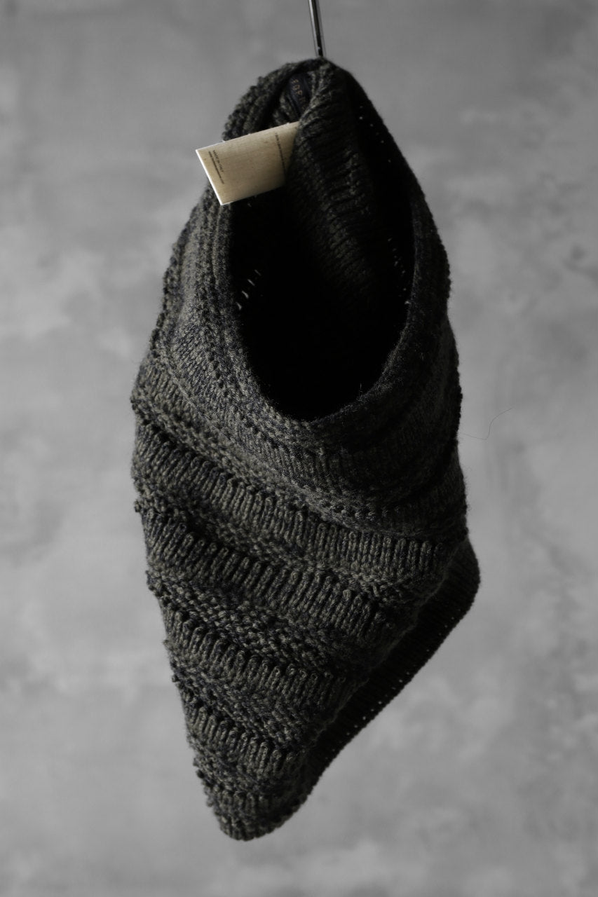 forme d'expression Laddered Knit Warmer (Mel. Military)