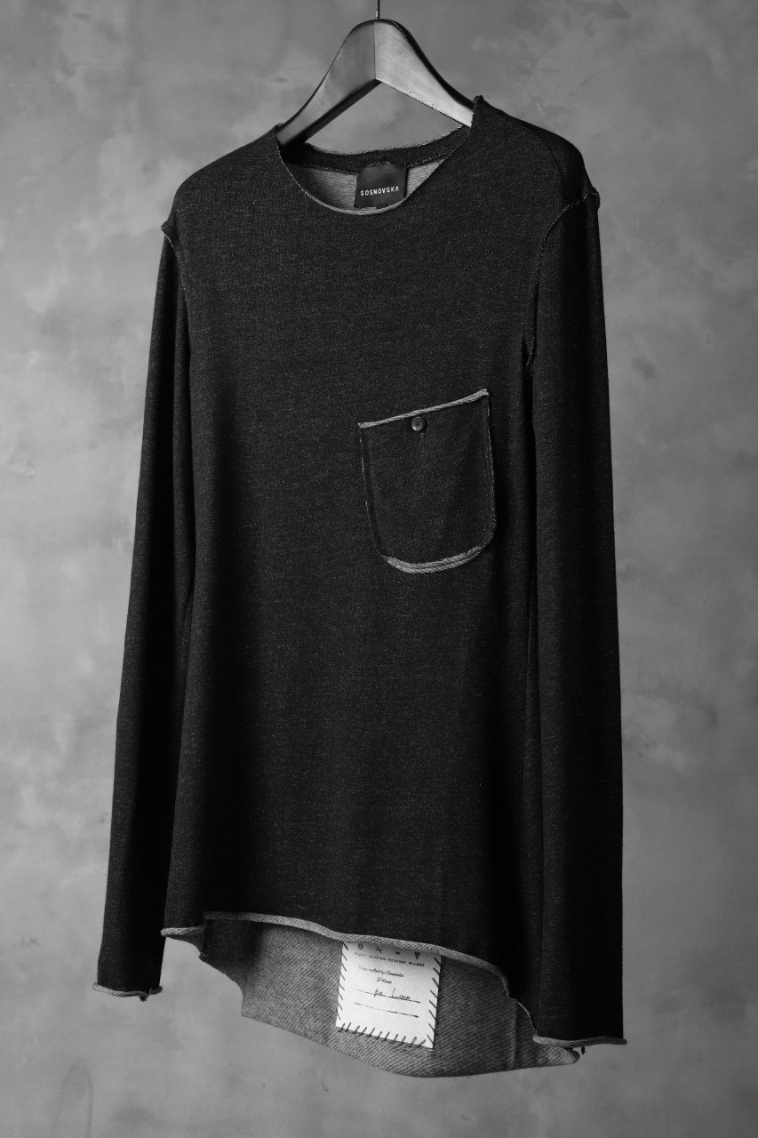 SOSNOVSKA DICHROMATIC WRENCHING LONG SLEEVE (BLACK)