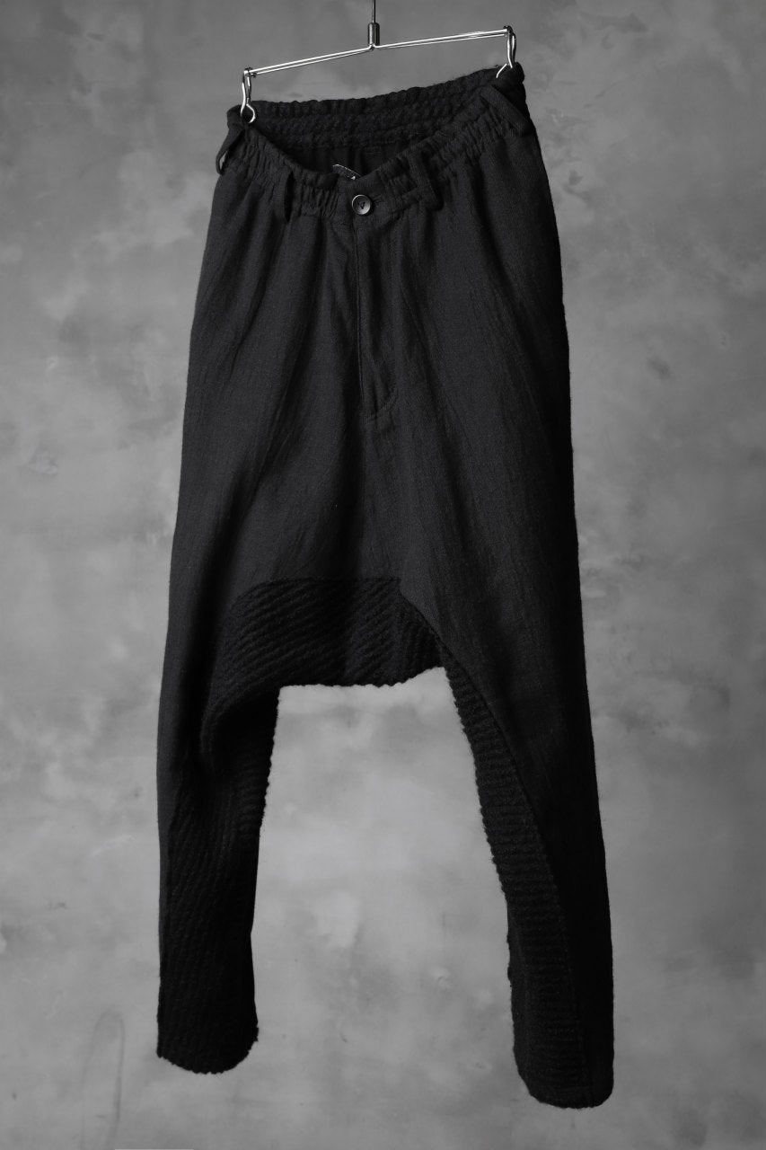 A.F ARTEFACT DROP CROTCH TAPERED PANTS / COMBI KNIT