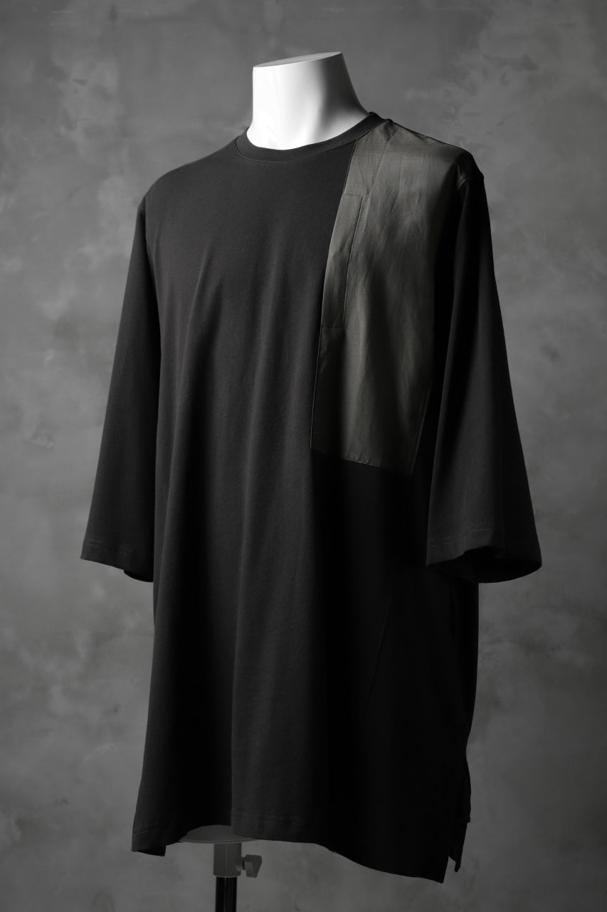 JOE CHIA POCKETED LONG T-SHIRT (DARK GREY)