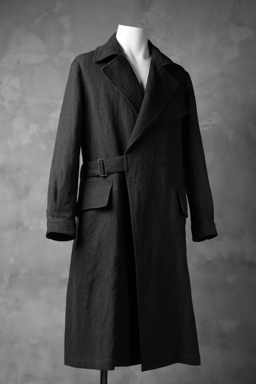 sus-sous storm coat / W50L50 3/2OX washer (CHARCOAL NAVY)