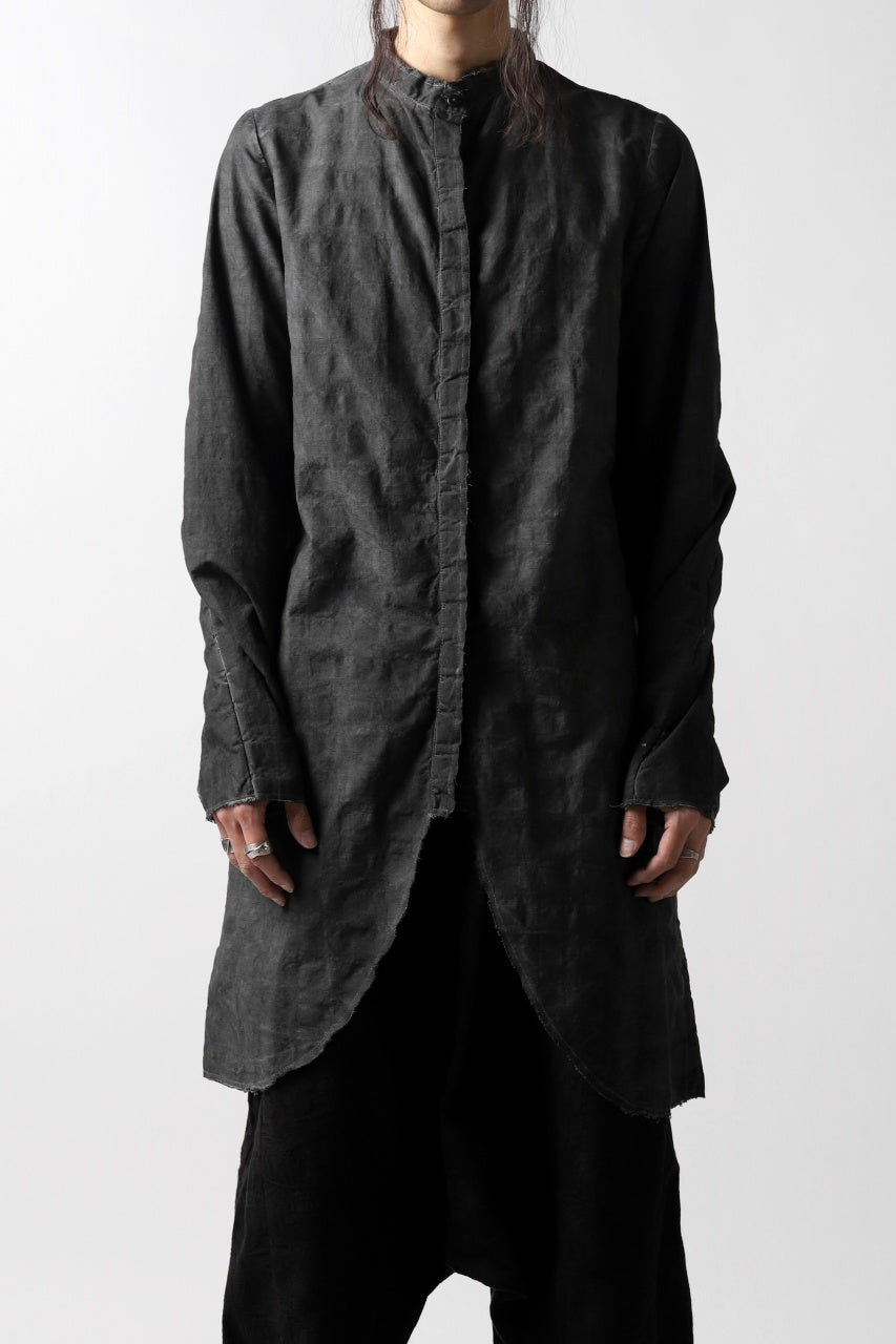 un-namable exclusive Dyed Juke Shirt (BLACK DYED CHECK)