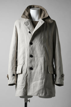 画像をギャラリービューアに読み込む, sus-sous motor cycle middle coat / C43L57 herringborn washer (NATURAL)