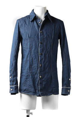 incarnation BUTTON DOWN SHIRT / ONE WASHED 6.5oz SELVEDGE CHAMBRAY (INDIGO)
