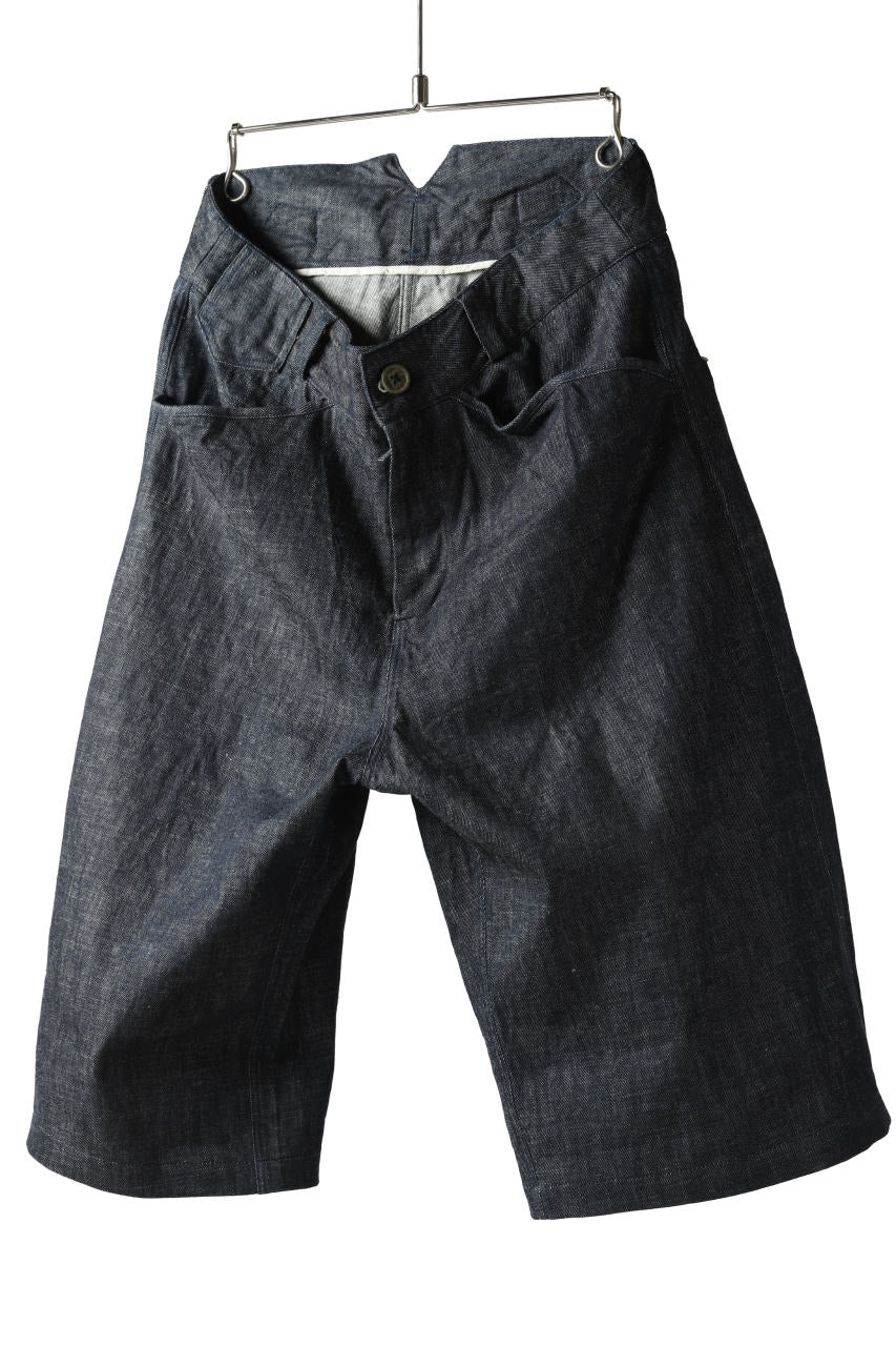 "daska x LOOM excluive ""w"" wide short trousers #black stitch"
