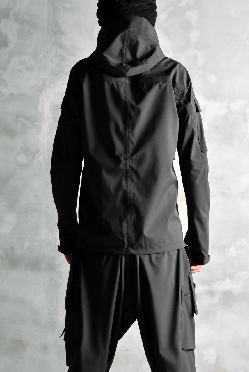N/07 schoeller® Pro-Tech System Hooded Jacket / Black Grosgrain