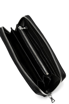画像をギャラリービューアに読み込む, ISAMU KATAYAMA BACKLASH exclusive ROUND FASTNER WALLET / DOUBLE-SHOULDER OBJECT DYED (BLACK)