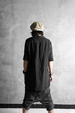 画像をギャラリービューアに読み込む, daska exclusive (tirel) cock shirt / sun-dried linen (BLACK)