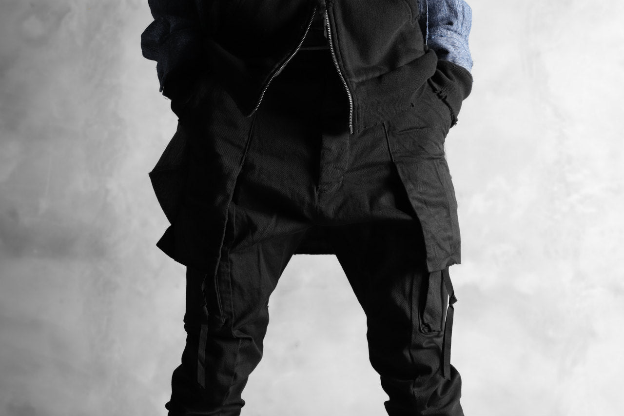 N/07 exclusive CONSTRUCTIVE LAYERED CARGO JODHPURS [ Stretch Weapon / Object Dye ] (BLACK)