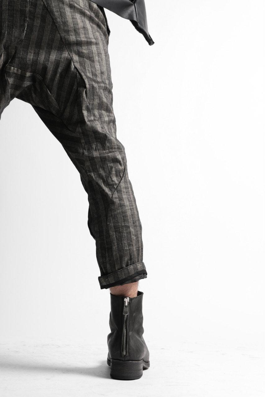 画像をギャラリービューアに読み込む, LEON EMANUEL BLANCK DISTORTION HIGH WAIST PANTS / STRIPE STRETCH (BLACK STRIPE)