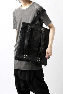 画像をギャラリービューアに読み込む, incarnation BUFFALO LEATHER 2WAY BAG (TOTE / BACKPACK) (BLACK)