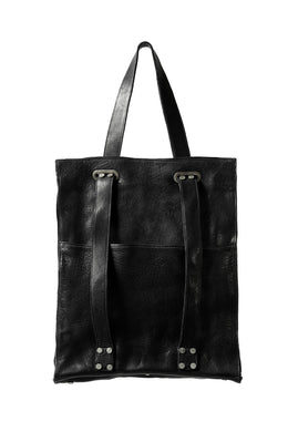incarnation BUFFALO LEATHER 2WAY BAG (TOTE / BACKPACK) (BLACK)