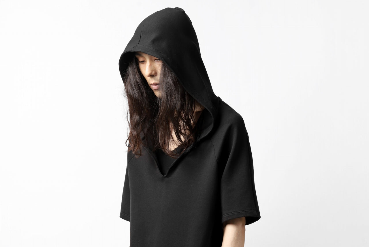incarnation RAGLAN HOODED TOPS / HIGH STRETCH COTTON (BLACK)