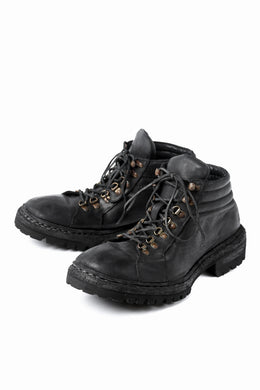 incarnation HORSE LEATHER TREK BOOTS / VIBRAM GOODYEAR WELTED (BLACK)