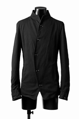 incarnation CURVED FRONT JACKET / ELASTIC COTTON (BLACK)