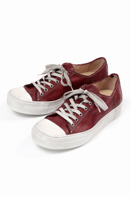 incarnation LOW CUT LACE UP SNEAKER / HORSE FULL GRAIN (HAND DYED DARK RED)