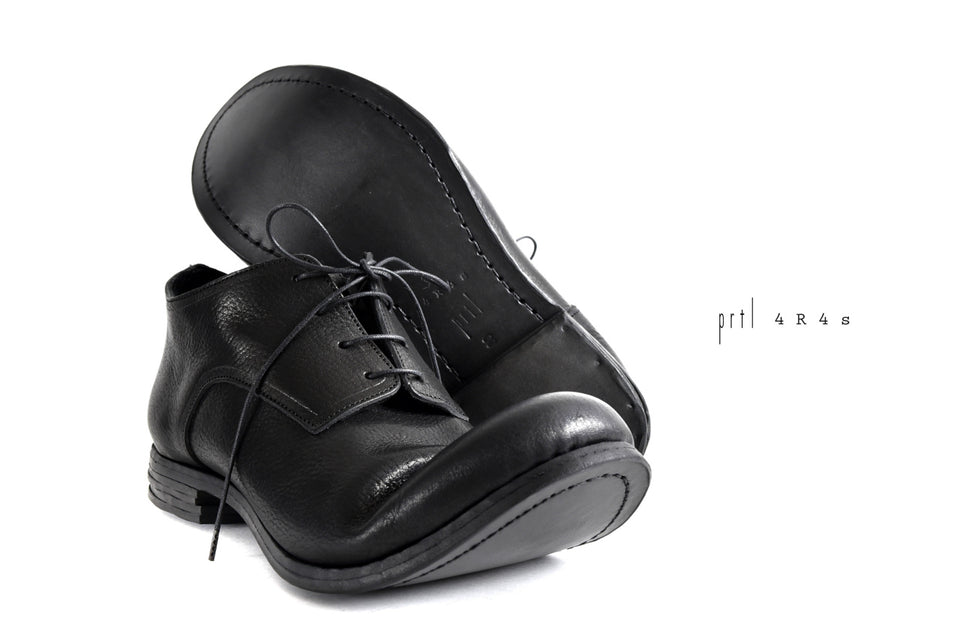 "画像をギャラリービューアに読み込む, prtl x 4R4s exclusive Derby Shoes / Waxy Steer ""No 3-2M"" (BLACK)"