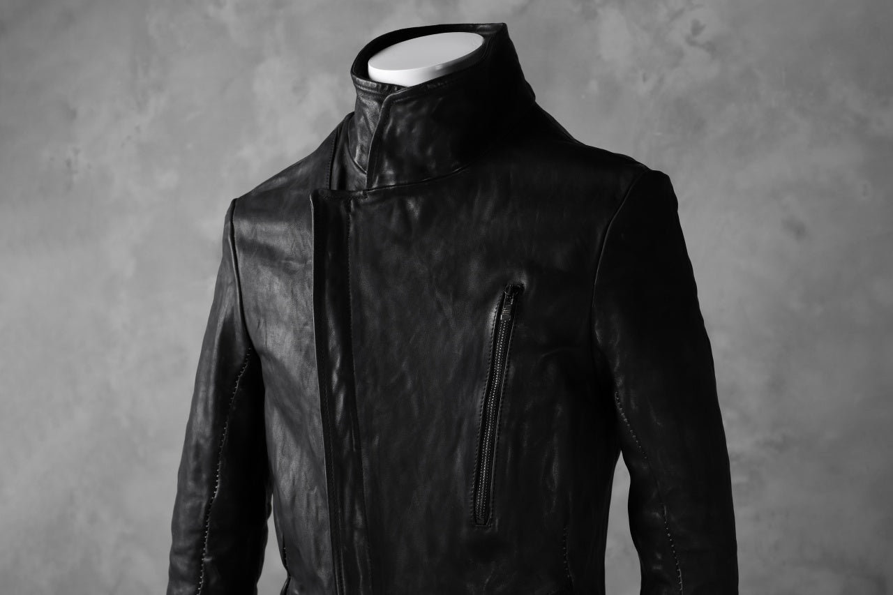 incarnation exclusive MILITARY ZIP JACKET OBJECT DYE/TANNED HORSE (BLACK)