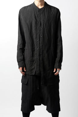 A.F ARTEFACT ASYMMETRY LINEN SHIRT (BLACK)