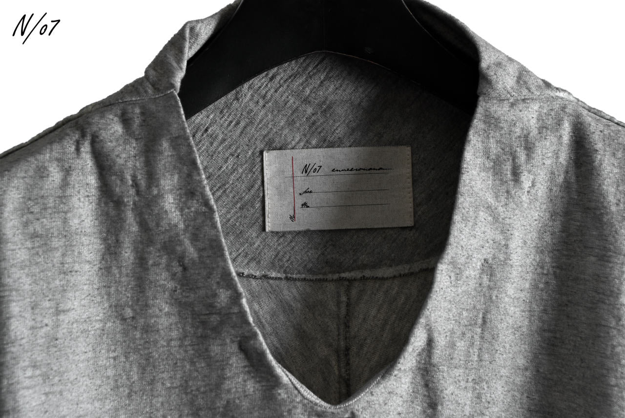 N/07 Neck Follow Jersey Tops / Sumi Ink Dyed (INK)