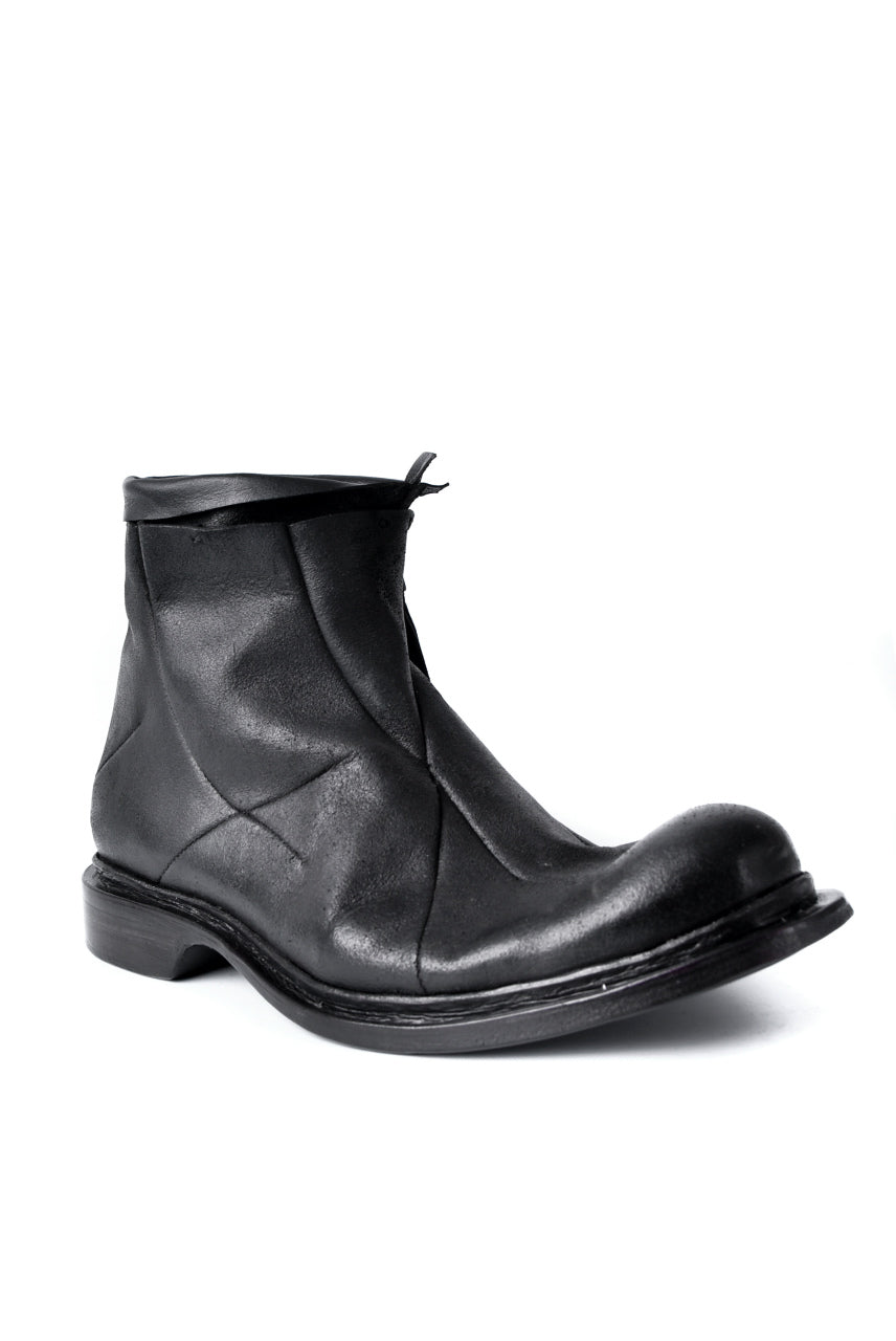 LEON EMANUEL BLANCK x Dimissianos & Miller DISTORTION ANKLE BOOTS / GUIDI CALF REVERSED (BLACK)