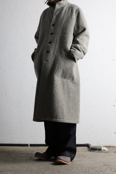 画像をギャラリービューアに読み込む, sus-sous medical coat / Napping melton wool (TOP GREY BEIGE)