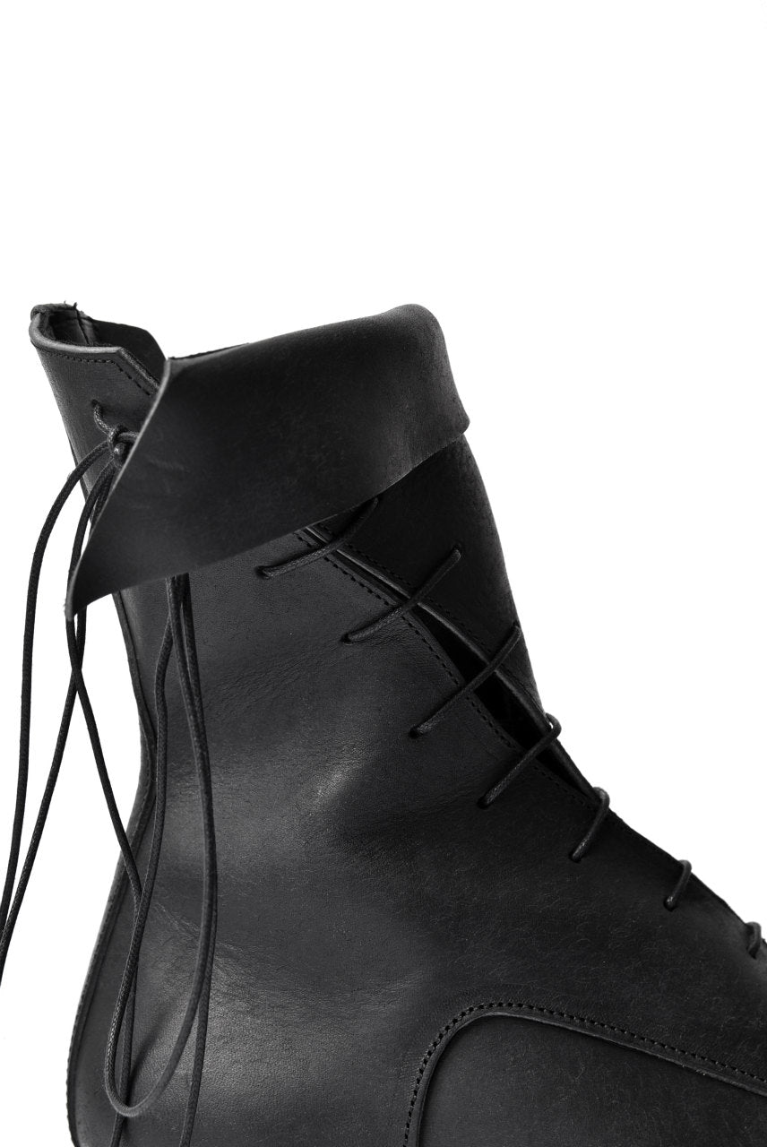 "prtl x 4R4s exclusive Twisted Lace Boots / PUEBLO by Badalassi Carlo ""No4-4"" (BLACK)"