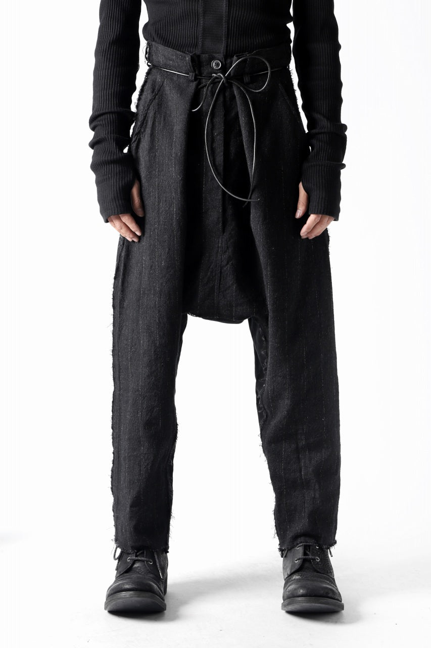 RUNDHOLZ STRIPE SARROUEL TROUSERS / switching fablic (ANTHRACITE)