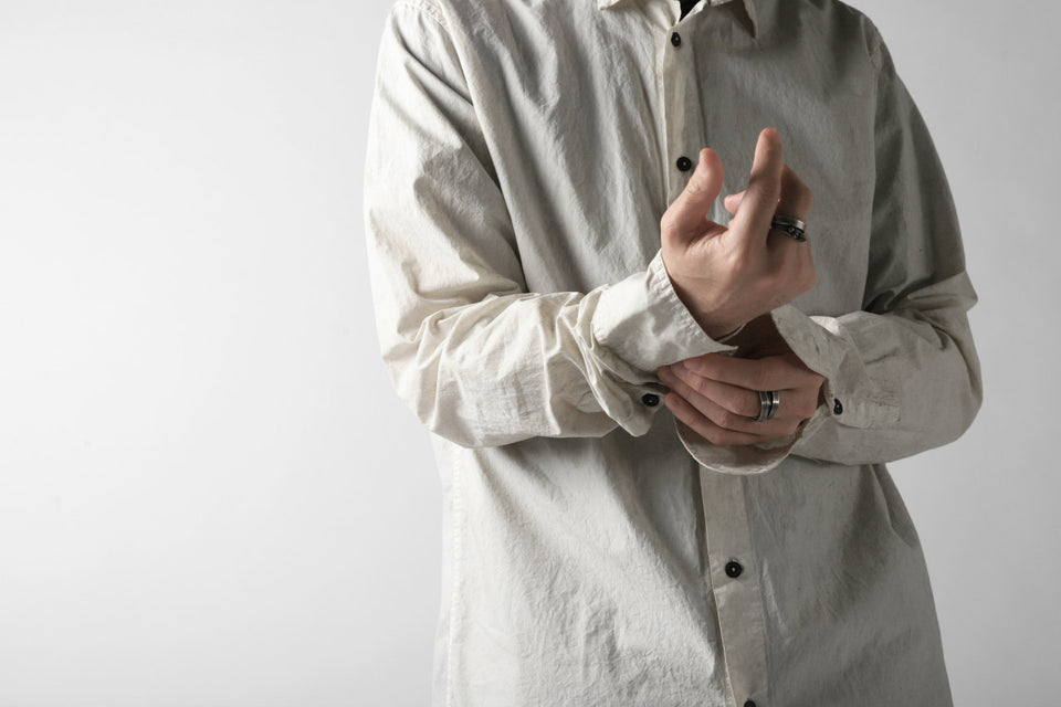画像をギャラリービューアに読み込む, RUNDHOLZ DIP REGULAR COLLAR SHIRT / DYED C-CLOTH (MARBLE)