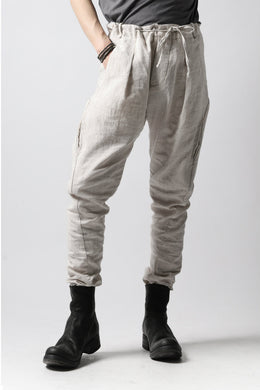 masnada PANTA BAGGY VAN 6POCKETS / CRUMPLED LINEN COTTON (CHALK)