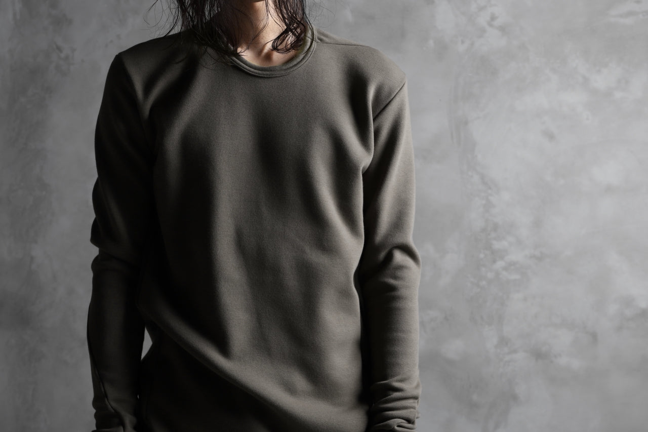 A.F ARTEFACT exclusive BomberHEAT® BASIC TOPS (KHAKI GREY)