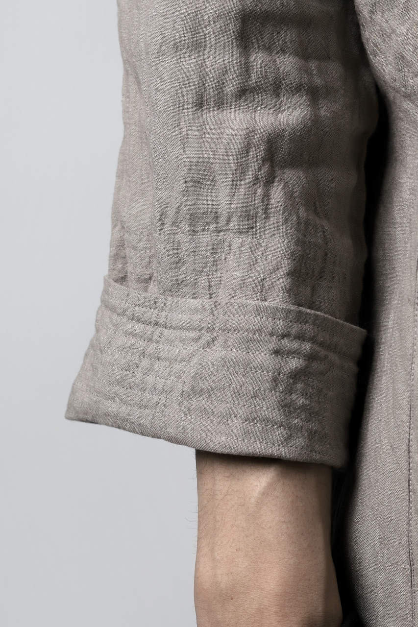 "daska ""tirel"" cock shirt / sun-dried linen (LIGHT GREY)"