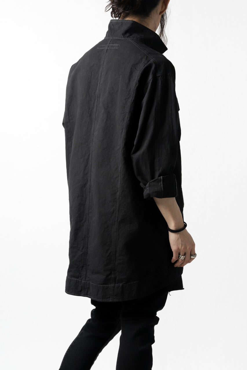 画像をギャラリービューアに読み込む, A.F ARTEFACT MILITARY COVER ALL SHIRT-JKT (BLACK)