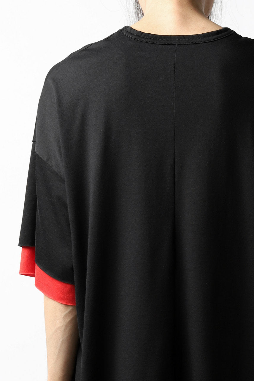 Load image into Gallery viewer, A.F ARTEFACT exclusive OVER SIZED LAYERED TEE (BLACK xRED)