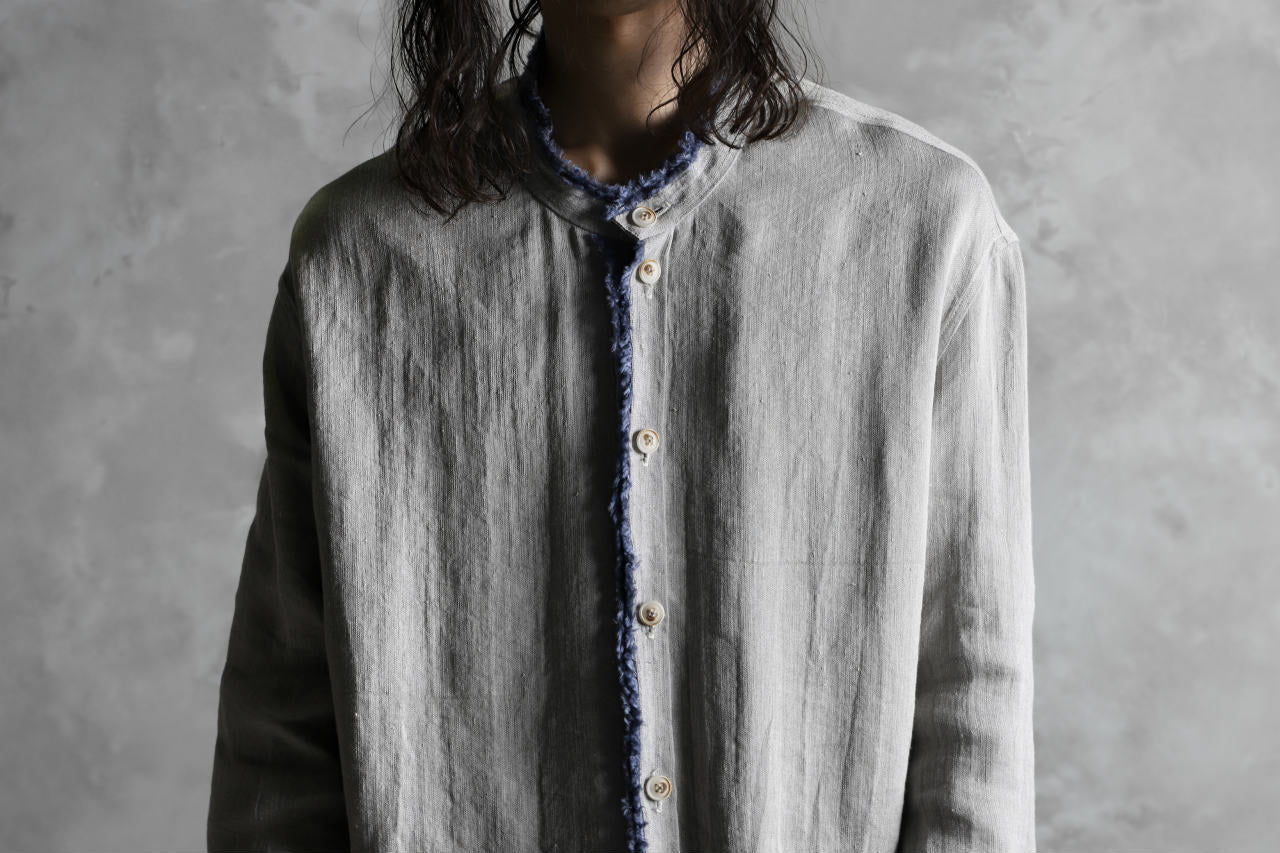 SOSNOVSKA exclusive RELICTA EDGES SHIRT (BEIGE×BLUE)